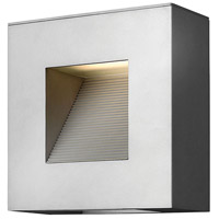 Luna LED 9 inch Titanium Outdoor Wall in Etched Lens