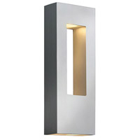 Hinkley Lighting Atlantis 2 Light Outdoor Wall Lantern in Titanium 1648TT-LED