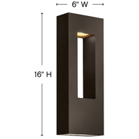 Hinkley 1648BZ Atlantis 2 Light 16 inch Bronze Outdoor Wall Mount in Incandescent alternative photo thumbnail