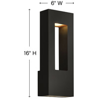 Hinkley 1648SK Atlantis 2 Light 16 inch Satin Black Outdoor Wall Mount in Incandescent alternative photo thumbnail