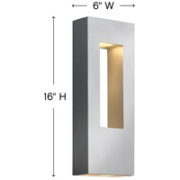 Hinkley 1648TT Atlantis 2 Light 16 inch Titanium Outdoor Wall Mount in Incandescent alternative photo thumbnail
