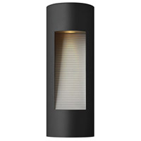 Luna LED 16 inch Satin Black Outdoor Wall Lantern in Etched Lens