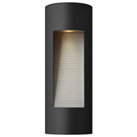 Hinkley 1660SK Luna 2 Light 16 inch Satin Black Outdoor Wall Lantern in Etched Lens, Incandescent