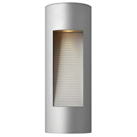Luna LED 17 inch Titanium Outdoor Wall Lantern in Etched