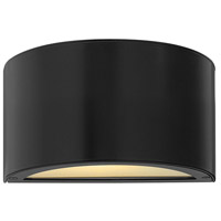 Luna LED 5 inch Satin Black Outdoor Wall Sconce, Small