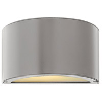 Luna LED 5 inch Titanium Outdoor Wall Sconce, Small