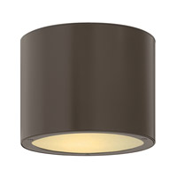Luna 1 Light 8 inch Bronze Outdoor Ceiling in GU24