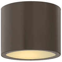 Luna 1 Light 8 inch Bronze Outdoor Ceiling Lantern in None, Incandescent