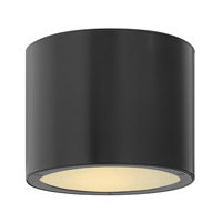 Luna 1 Light 8 inch Satin Black Outdoor Ceiling in GU24