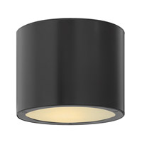 Hinkley Lighting Luna 2 Light Outdoor Ceiling Lantern in Satin Black 1663SK-LED