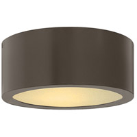 Hinkley 1665BZ Luna LED 8 inch Bronze Outdoor Flush Mount