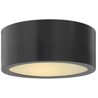 Hinkley 1665SK Luna LED 8 inch Satin Black Outdoor Flush Mount
