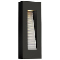 Hinkley 1668SK Luna 2 Light 16 inch Satin Black Outdoor Wall Mount in GU10