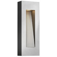 Luna 2 Light 16 inch Titanium Outdoor Wall in Incandescent