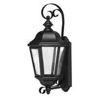 Hinkley Lighting Edgewater 1 Light Outdoor Wall Lantern in Black 1670BK-ES
