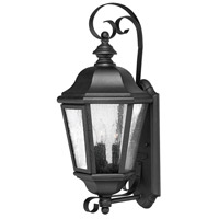Edgewater 3 Light 21 inch Black Outdoor Wall Lantern in Seedy