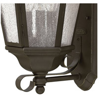 Hinkley 1670OZ Edgewater 3 Light 21 inch Oil Rubbed Bronze Outdoor Wall Mount in Incandescent, Clear Seedy Panels Glass alternative photo thumbnail