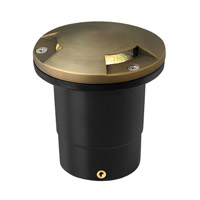 Hinkley 16710MZ-3K60 Hardy Island 12V 2 watt Matte Bronze Well Light in LED, 60-Degree Flood Directional