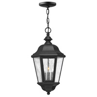 Edgewater 3 Light 10 inch Black Outdoor Hanging Lantern in Seedy