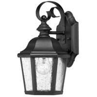 Hinkley 1674BK-LED Edgewater 1 Light 11 inch Black Outdoor Wall in Seedy, LED, Clear Seedy Glass