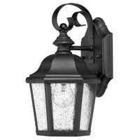 Hinkley 1674BK Edgewater 1 Light 12 inch Black Outdoor Wall Mount in Seedy Incandescent