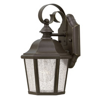 Edgewater 1 Light 11 inch Oil Rubbed Bronze Outdoor Wall Lantern in Clear Seedy Panels, LED, Clear Seedy Panels Glass