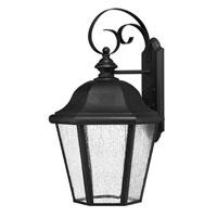 Hinkley Lighting Edgewater 1 Light Outdoor Wall Lantern in Black 1675BK-ES photo thumbnail