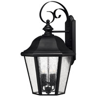 Edgewater 1 Light 26 inch Black Outdoor Wall in Seedy, LED, Clear Seedy Glass