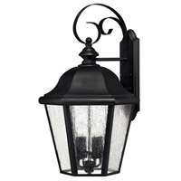 Hinkley 1675BK Edgewater 4 Light 26 inch Black Outdoor Wall Lantern in Seedy, Incandescent