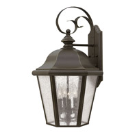 Hinkley Lighting Edgewater 1 Light Outdoor Wall Lantern in Oil Rubbed Bronze with Clear Seedy Panels Glass 1675OZ-LED