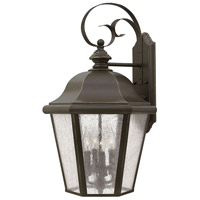 Hinkley 1675OZ Edgewater 4 Light 26 inch Oil Rubbed Bronze Outdoor Wall Lantern in Clear Seedy Panels, Incandescent, Clear Seedy Panels Glass