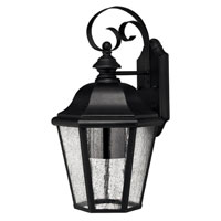 Hinkley Lighting Edgewater 1 Light Outdoor Wall Lantern in Black 1676BK-DS photo thumbnail