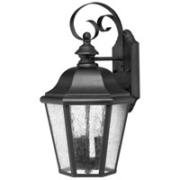 Edgewater 1 Light 18 inch Black Outdoor Wall in Seedy, LED, Clear Seedy Glass