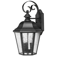 Hinkley 1676BK Edgewater 3 Light 18 inch Black Outdoor Wall Lantern in Seedy, Incandescent