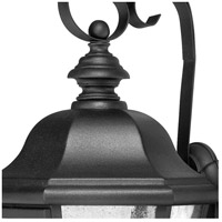 Hinkley 1676BK Edgewater 3 Light 18 inch Black Outdoor Mini Wall Mount in Incandescent alternative photo thumbnail