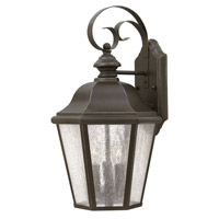 Edgewater 1 Light 18 inch Oil Rubbed Bronze Outdoor Wall Lantern in Clear Seedy Panels, LED, Clear Seedy Panels Glass