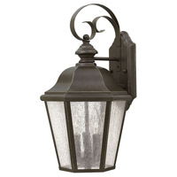 Hinkley 1676OZ Edgewater 3 Light 18 inch Oil Rubbed Bronze Outdoor Wall Lantern in Clear Seedy Panels, Incandescent, Clear Seedy Panels Glass