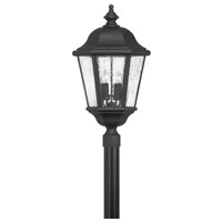 Hinkley 1677BK Edgewater 4 Light 27 inch Black Post Lantern in Seedy, Post Sold Separately