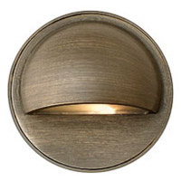 Hardy Island 12V 1.5 watt Matte Bronze Deck in LED, Round Eyebrow