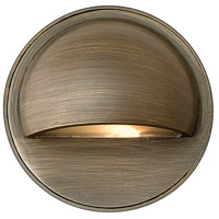 Hardy Island 12V 20 watt Matte Bronze Deck in Incandescent, Round Eyebrow