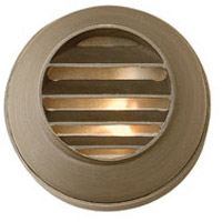Hinkley Lighting Hardy Island Round Louvered 1 Light LED Deck in Matte Bronze 16804MZ-LED