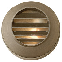 Hardy Island 12V 20 watt Matte Bronze Deck in Incandescent, Round Louvered