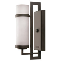Hinkley Lighting Cordillera 1 Light Outdoor Wall Lantern in Buckeye Bronze with Etched Glass 1696KZ-GU24