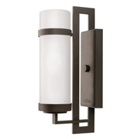 Hinkley Lighting Cordillera 1 Light Outdoor Wall Lantern in Buckeye Bronze with Etched Glass 1698KZ