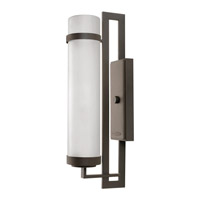 Hinkley Lighting Cordillera 1 Light Outdoor Wall Lantern in Buckeye Bronze with Etched Glass 1699KZ-GU24