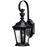 Camelot 1 Light 16 inch Black Outdoor Wall in LED, Clear Beveled Glass