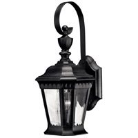 Hinkley 1700BK Camelot 1 Light 16 inch Black Outdoor Wall Mount in Incandescent