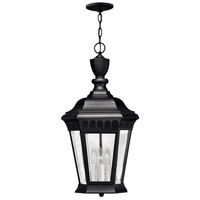Hinkley 1702BK-LED Camelot 1 Light 12 inch Black Outdoor Hanging in LED, Clear Beveled Glass