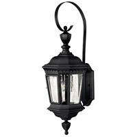 Hinkley Lighting Camelot 3 Light Outdoor Wall Lantern in Black 1704BK