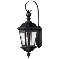 Hinkley Lighting Camelot 3 Light Outdoor Wall Lantern in Black 1705BK